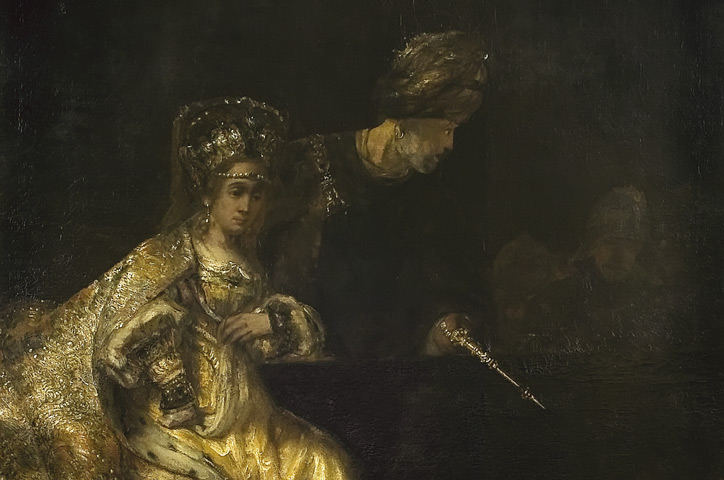 Rembrandt – Haman before Esther